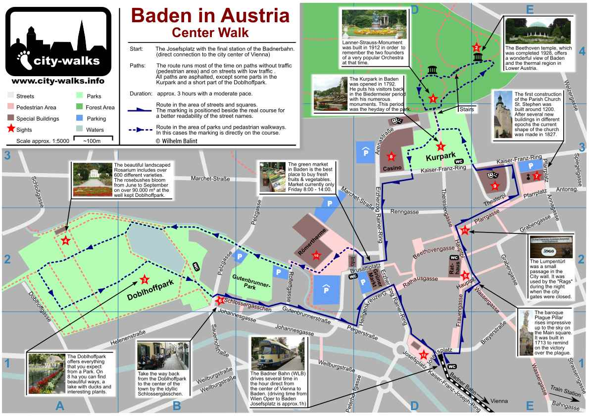 Baden in Austria Tourist Travel Guide Top Day Trips from Vienna – Tourist Map Of Vienna Austria