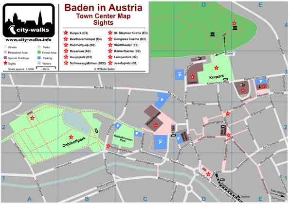 Baden in Austria Map preview