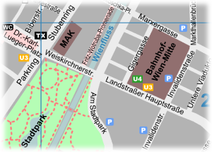Vienna Map City Center