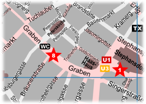Graben Vienna Map