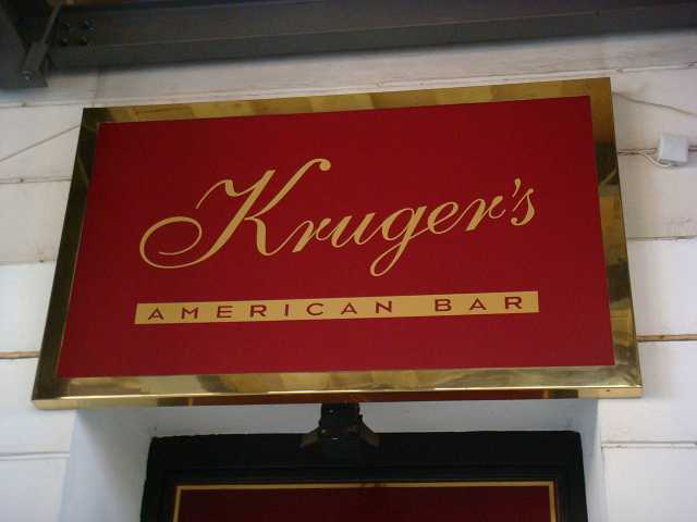 Krugers Cocktail Bar Sign