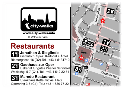 Best Restaurants Vienna Map