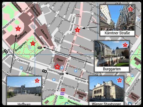 Wien Stadtplan Innenstadt PDF Mit Sehenswrdigkeiten