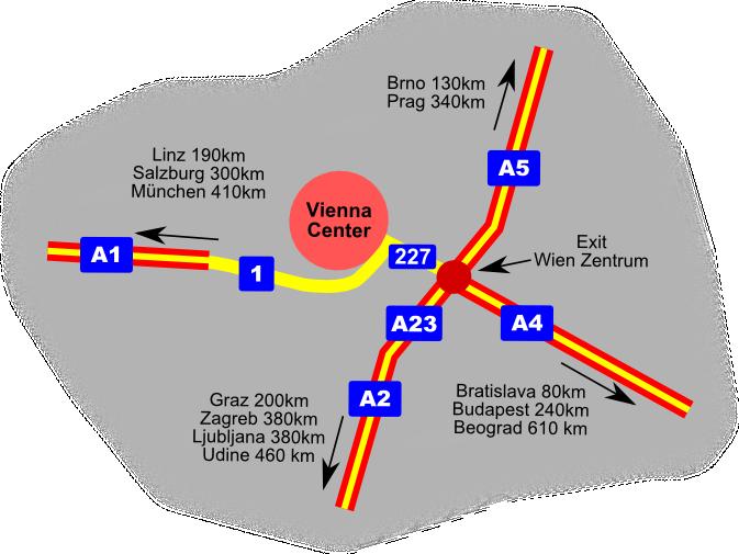 Directions Vienna Austria by Car