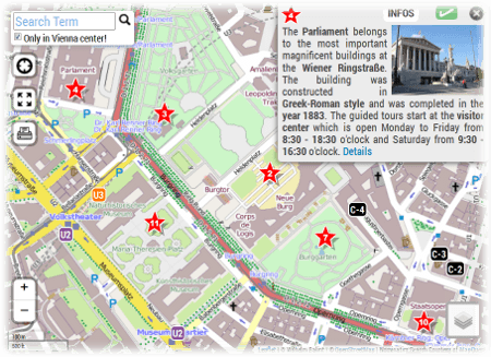 Vienna Tourist Map for Sightseeing PDF
