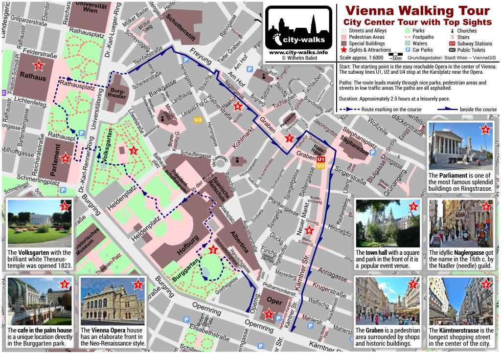 Vienna City Tour Map Download – Vienna Tourist Map Printable