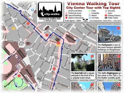 Vienna City Tour Map